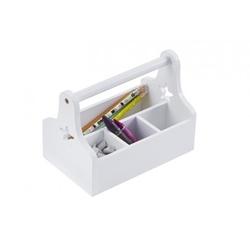 Skrzynka - organizer na biurko lub zabawki - biały