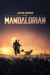Star wars: the mandalorian dusk - plakat