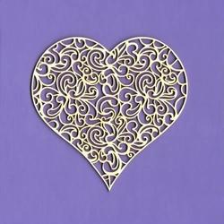 Ażurowe serce do rękodzieła 8 cm