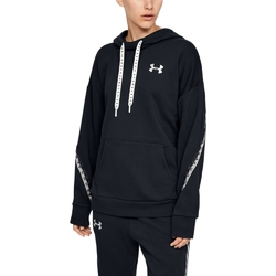 Bluza damska under armour fleece hoodie taped wm - czarny