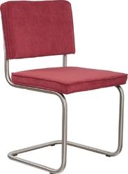 Zuiver krzesło ridge brushed rib czerwone 21a 1100079