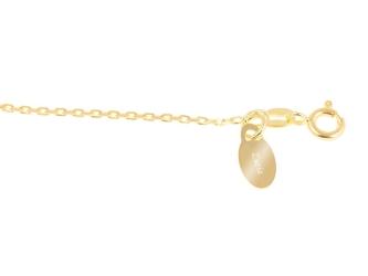 Bransoletka stópki pozłacana srebro pr. 925 grawer złota kokardka