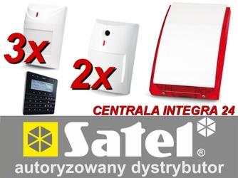 Zestaw alarmowy satel integra 24, klawiatura sensoryczna, 5 czujek, sygnalizator zewnętrzny, powiadomienie sms - możliwość montażu - zadzwoń: 34 333 57 04 - 37 sklepów w całej polsce
