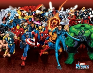 Marvel Heroes Attack - plakat