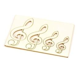 Ozdobne klucze wiolinowe - zestaw 4 sztuk