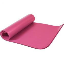 Mata do ćwiczeń fitness jogi duża 190x100x1,5cm antypoślizgowa fuksja