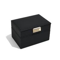 Pudełko na biżuterię 2-poziomowe czarne mini classic stackers