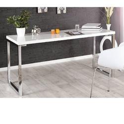 Nowoczesne, białe biurko white desk 140 cm