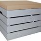 Pufa kufer skrzynia drewniana sosnowa siedzisko 50cm malowana szara