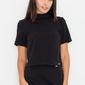 Czarna bluzka z krótkim rękawem i półgolfem