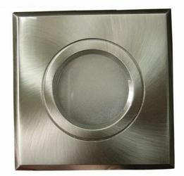 Oprawa stropowa - kwadrat - GU10 na 230V - satyna - wodoszczelny
