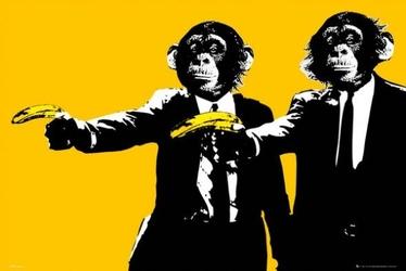 Pulp fiction monkeys steez - plakat