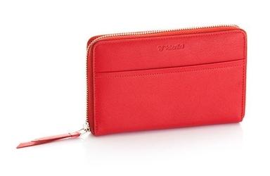 Duży damski portfel valentini black  red diamond - czerwony
