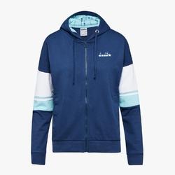 Bluza damska diadora l.hd fz sweat logo - niebieski