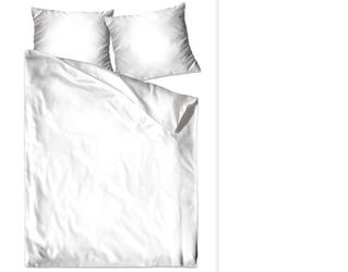 Pościel satynowa bielbaw biały 160 x 200