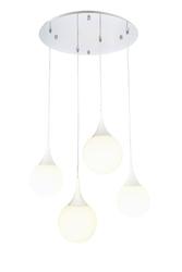 Lampa wisząca cztery białe krople dewdrop maytoni modern p225-pl-150-n