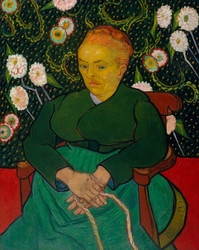 La berceuse woman rocking a cradle, vincent van gogh - plakat wymiar do wyboru: 70x100 cm