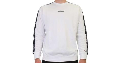 Champion crewneck sweatshirt 214224-ww001 m biały