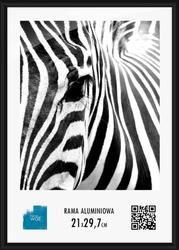 Czarna rama aluminiowa 21x29,7 cm
