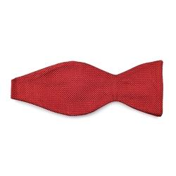 Czerwona mucha jedwabna wiązana VAN THORN- prosty splot