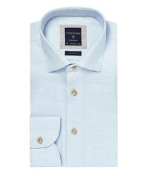 Błękitna koszula profuomo o drobnej strukturze 39