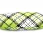 Twarde etui futerał na okulary zielona kratka et-103c