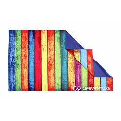 Ręcznik szybkoschnący soft fibre lifeventure - striped planks 150x90 cm
