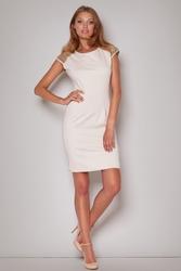 Sukienka lamia m208 beĺźowa
