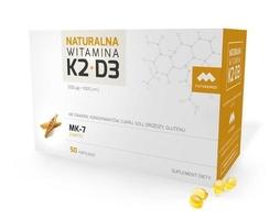 Naturalna witamina k2 100mcg mk-7 + d3 1000 j.m. x 50 kapsułek