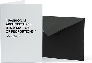 Kartka z kopertą Architects Quotes Fashion Architecture