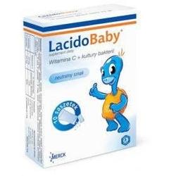 Lacidobaby witamina c + kultury bakterii smak neutralny x 10 saszetek