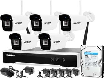 Zm12752 monitoring zestaw bezprzewodowy hikvision 5 kamer wifi 4mpx 1tb
