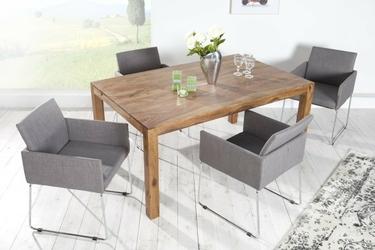 Krzesło tapicerowane zala szare