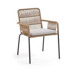 Krzesło ogrodowe tsun 83x65 cm beżowe