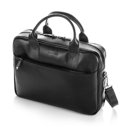 Elegancka torba męska ze skóry brodrene r12 czarna