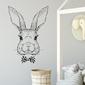 Naklejka na ścianę - mr rabbit , wymiary naklejki - szer. 40cm x wys. 60cm