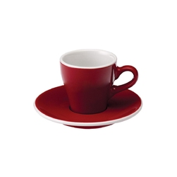 Filiżanka ze spodkiem 280 ml czerwona Tulip Loveramics