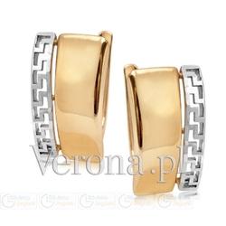 Kolczyki złote dwukolorowe z antycznym wzorem pr. 333 zw-x-x07-d00-xha9179