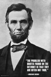 Abraham lincoln cytaty z internetu - plakat