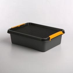 Pojemnik do przechowywania rzeczy  zabawek z pokrywką orplast solid store szary 8,5 l