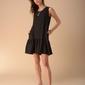 Letnia sukienka z falbanką na dole - czarna