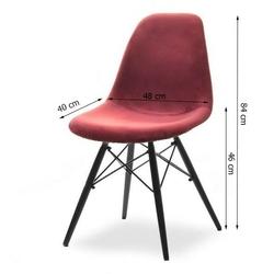 Krzesło tunis lll black wood welur