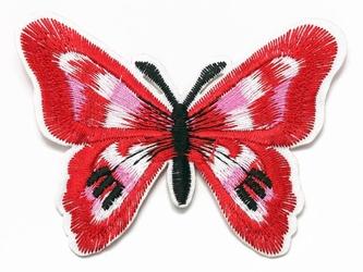 Naprasowanka termo aplikacja motyl czerowna - czerwony