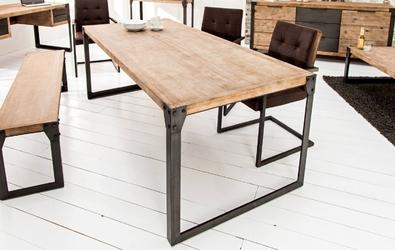 Industrialny stół na metalowych nogach factory ii  200 cm