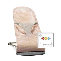 Babybjorn - leżaczek bliss mesh - perłowy różowy + zabawka