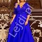 Chabrowa sukienka plus size z koronkową górą z cekinami - crystal 34