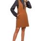 Kamelowa casualowo-sportowa sukienka na szelkach