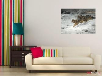 stado wilków - alfred wierusz-kowalski ; obraz - reprodukcja