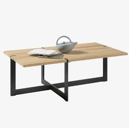 Drewniana ława tiago na metalowych, czarnych nogach  110x60 cm