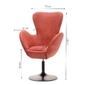 Fotel obrotowy jacco czerwony vintage